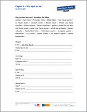 Unterrichtsmaterial Erwachsene | A1 | Grammatik