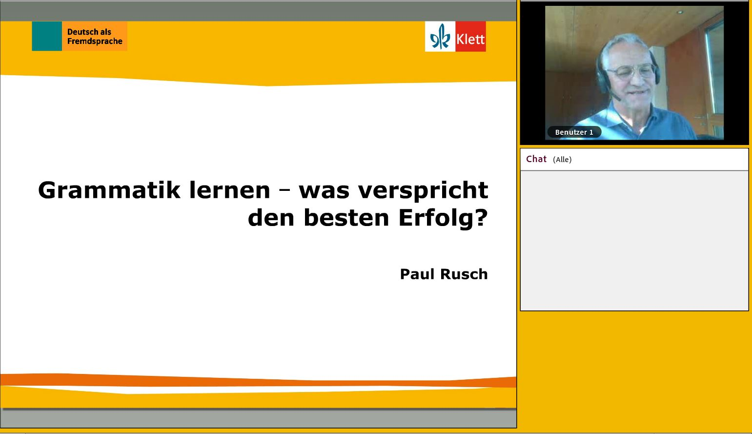 Screenshot Live-Talk Grammatik